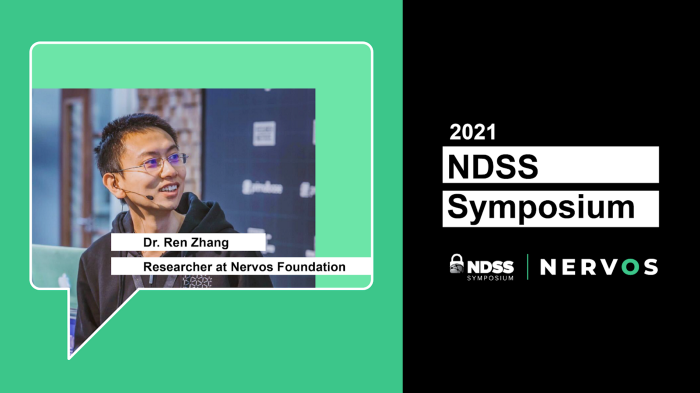 Nervos researcher Dr. Ren Zhang invited to join NDSS Special Committee of Blockchain Reviewers